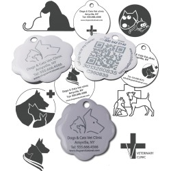 Design your tag (Imposed B&W logos + Free Text + SOSlostPets)